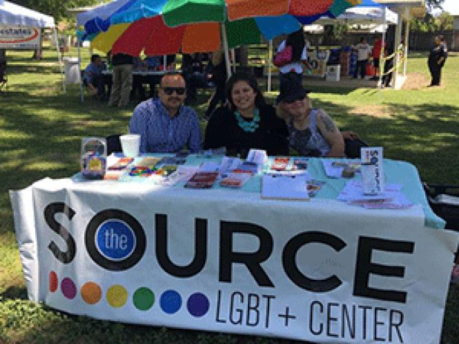 Volunteers promote Visalia&#039;s LGBT community center, the<br>Source. Photo: Courtesy the Source LGBT-plus Center.