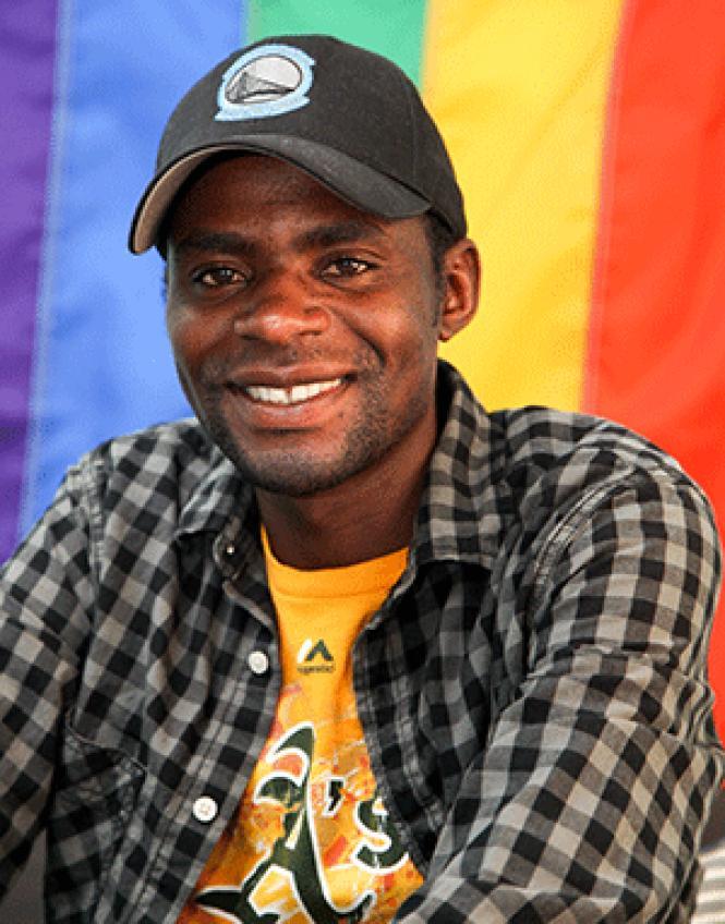 Gay Ugandan refugee Ronnie Kayigoma. Photo: Kelly<br>Sullivan
