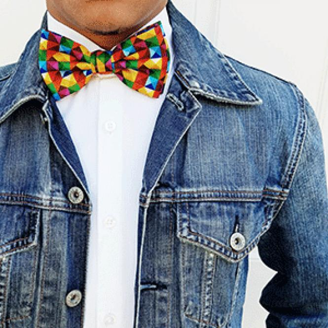 The sale of rainbow-themed bow ties will help several<br>nonprofits, including the San Francisco LGBT Community Center. Photo: Courtesy<br>Bows-N-Ties