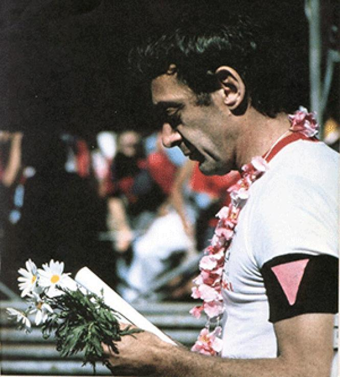Harvey Milk prepares to speak following the Gay Freedom<br>Day Parade in San Francisco in June 1978. Photo: Crawford Barton/courtesy GLBT<br>Historical Society.