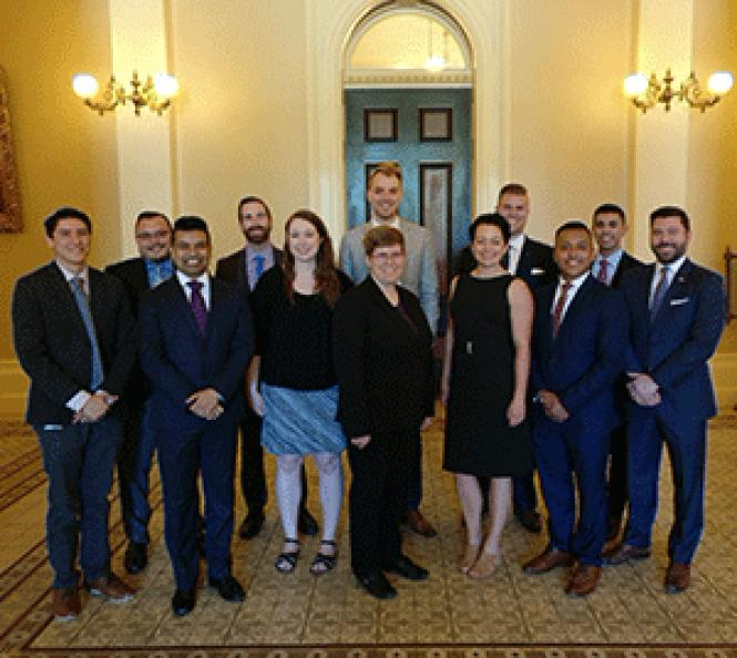 Capitol LGBT Association board President Biswajit<br>&quot;Bish&quot; Paul, left, front row, is joined by other board members of the<br>newly created group for state workers and others doing business in Sacramento.<br>Photo: Courtesy Capitol LGBT Association