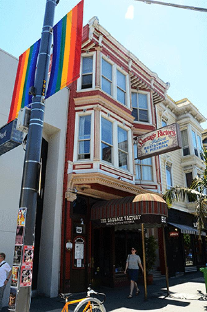 The Sausage Factory building on Castro Street is for<br>sale. Photo: Rick Gerharter