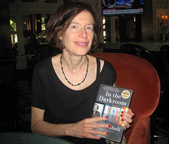 Susan Faludi holds a copy of her book about her father&#039;s life<br>and gender transition. Photo: Brian Bromberger&nbsp;<br><br><br><br><br><br><br>
