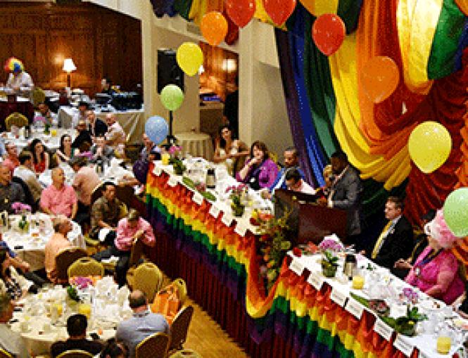 The Pride Brunch features comments by San Francisco Pride<br>grand marshals and usually sells out. Photo: Rich Stadtmiller