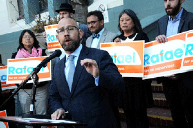 Rafael Mandelman kicked off his campaign for San<br>Francisco District 8 supervisor last week. Photo: Rick Gerharter