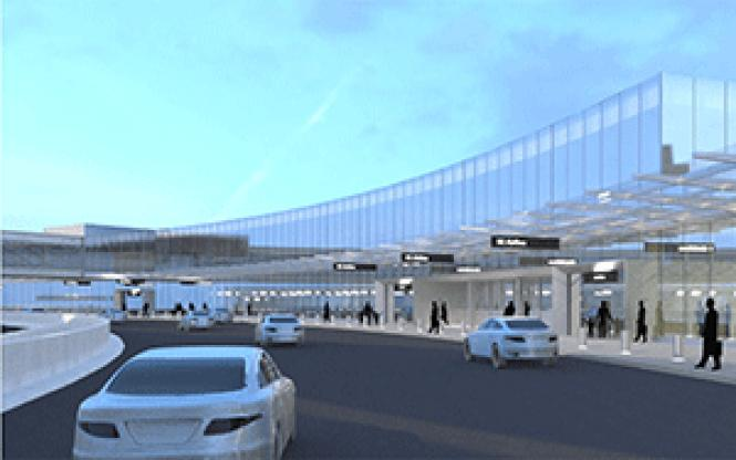 A city panel has recommended that Terminal 1 (shown here<br>as an artist rendering) at San Francisco International Airport be named after<br>slain gay supervisor Harvey Milk.