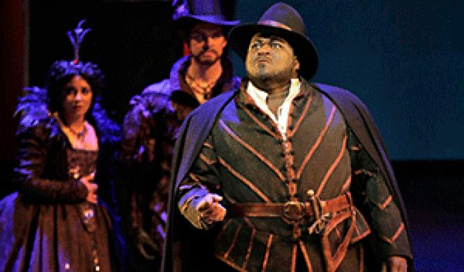 Reginald Smith Jr. performs as Count Monterone in San<br>Francisco Opera&#039;s production of <br><br>&quot;Rigoletto.&quot; Photo: Cory Weaver