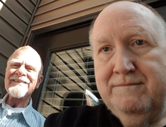Ronald Gouron, left, and his husband, Charles Richmond,<br>moved to Portland, Oregon after what Richmond said was a fraudulent eviction<br>from their San Francisco home. Photo: Courtesy Charles Richmond
