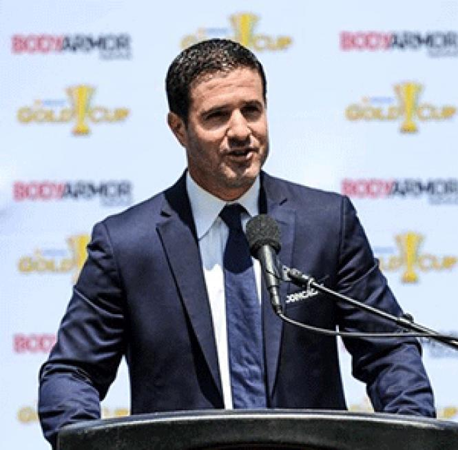 CONCACAF spokesman Brent Latham downplayed homophobic<br>slurs shouted by fans at a recent soccer match between Mexico and El Salvador.
