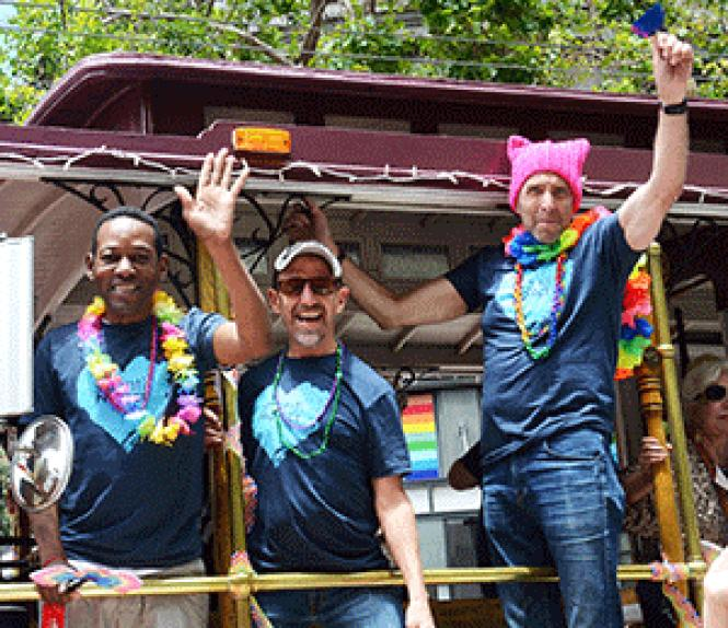 The Shanti Project, whose supporters rode in last month&#039;s<br>Pride parade, is one of several nonprofits that have received legacy business<br>status. Photo: Rick Gerharter