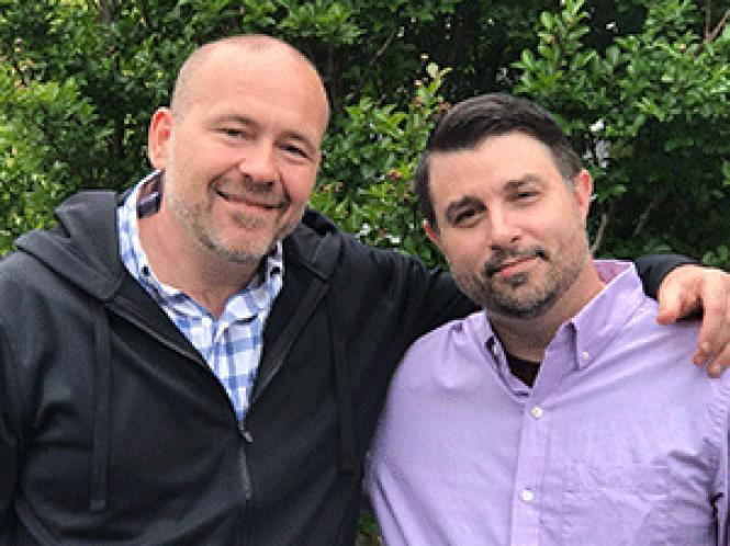 Sonoma County Sheriff&#039;s candidate Jay Foxworthy, left,<br>and his husband, Bryan Leffew. Photo: Courtesy Jay Foxworthy