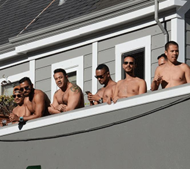 Sunbathers watched the scene at Dance Alley during last<br>year&#039;s Castro Street Fair. Photo: Rick Gerharter