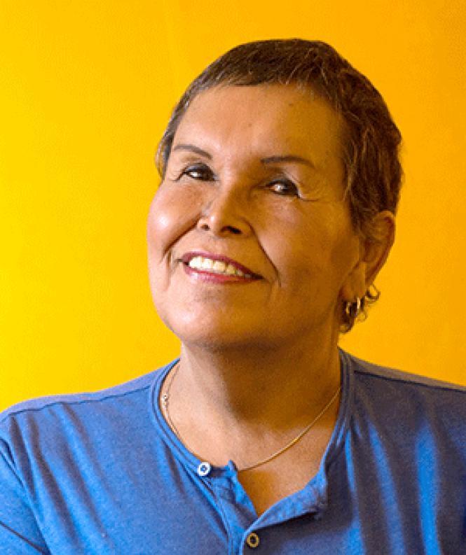 Felicia Elizondo sits in her San Francisco home. Photo: Khaled Sayed