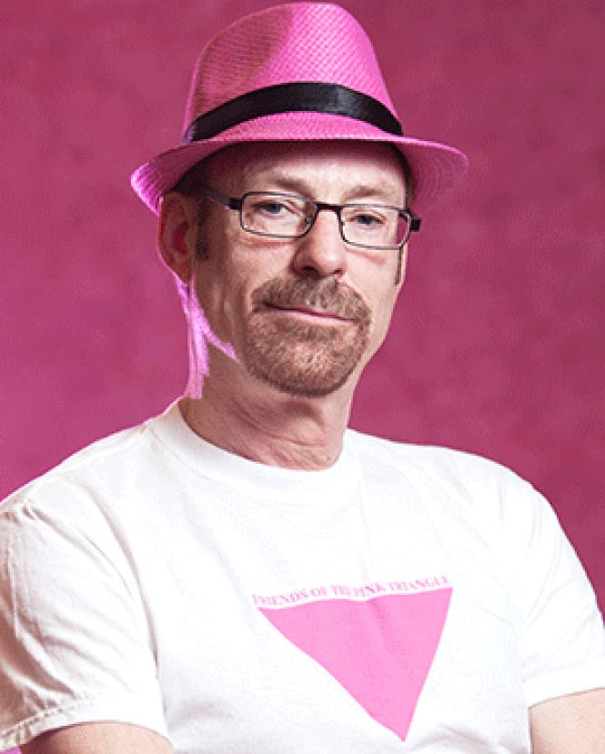 Pink triangle co-founder Patrick Carney hopes people<br>enjoy &#8211; and learn from &#8211; this year&#039;s 20th annual installation.<br>Photo: Khaled Sayed