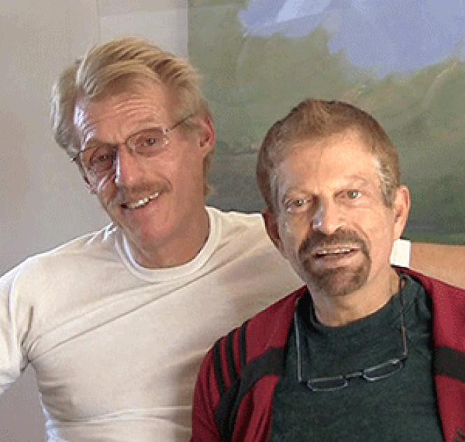 Tom Taylor and Jerome Goldstein have provided many years<br>of service to the LGBTQ community. Photo: Courtesy Tom Taylor