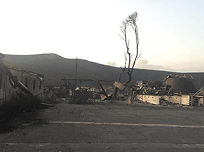 The Clover Stornetta Dairy in Sonoma was reduced to charred remains as wildfires swept through the North Bay this week