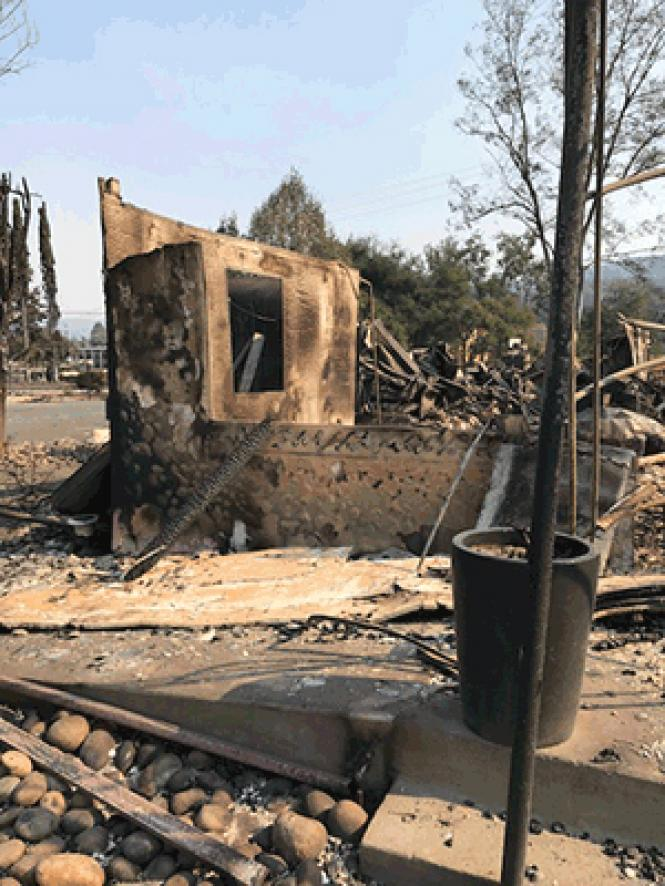 Willi's Wine Bar in Santa Rosa, California was destroyed in the wildfires