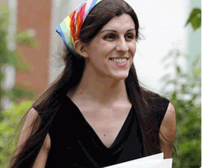 Virginia Delegate-elect Danica Roem often wore a rainbow scarf on the campaign trail.