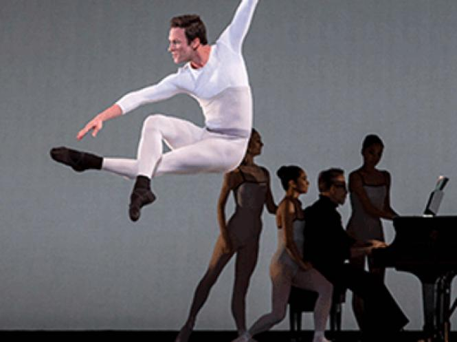 """The Joffrey Ballet performed Justin Peck's """"In Creases"""" in Zellerbach Hall."""
