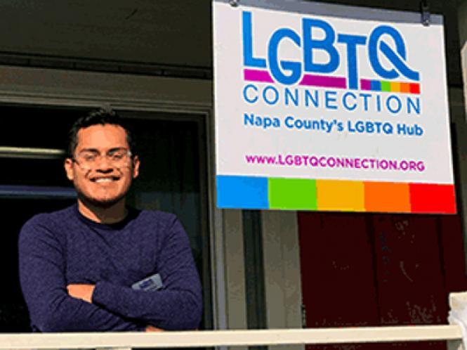 Eduardo Rivera is the program coordinator at LGBTQ Connection in Napa.