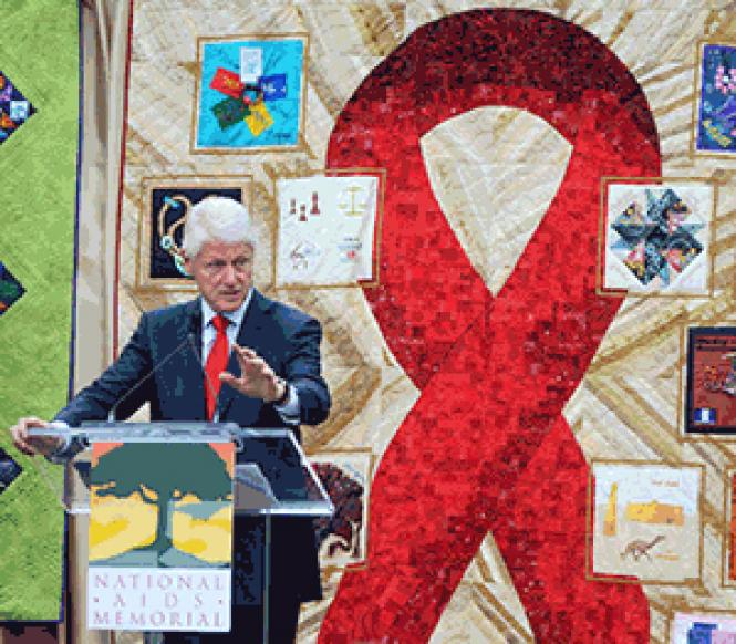 Former President Bill Clinton spoke at the National AIDS Memorial Grove on World AIDS Day