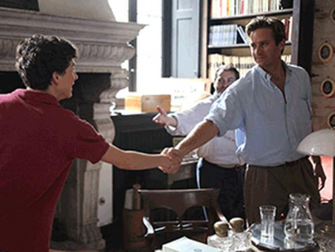 Elio (Timothee Chalamat) meets Oliver (Armie Hammer) in director Luca Guadagnino's 'Call Me by Your Name.'
