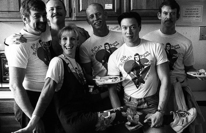 Rita Rockett with some of her Sunday Brunch volunteers in April 1992