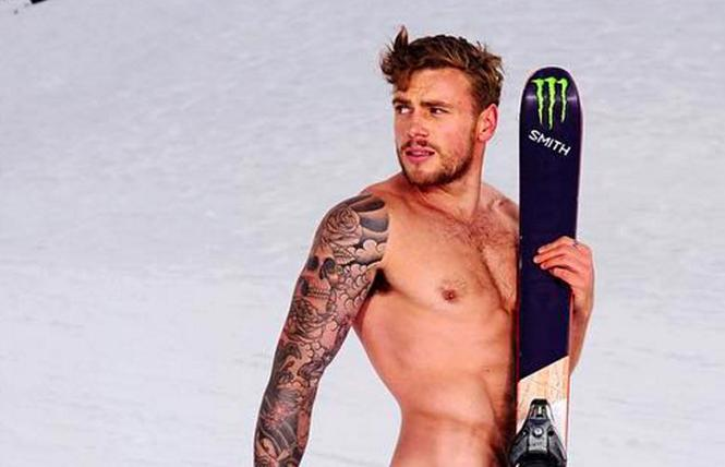 Gay U.S. Olympic athlete Gus Kenworthy, in a photo from ESPN magazine's Body issue. Photo: Courtesy ESPN