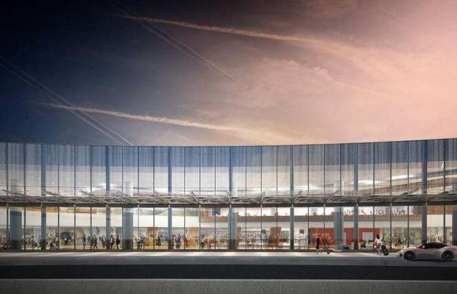 A rendering of the facade of Terminal 1 of San Francisco International Airport. Photo: Courtesy Gensler, Kuth Ranieri