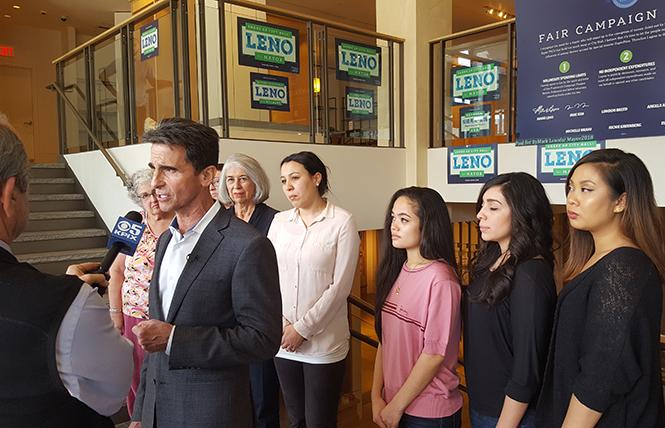 Mayoral candidate Mark Leno. Photo: Cynthia Laird