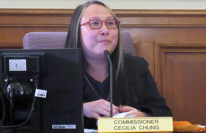 San Francisco Health Commissioner Cecilia Chung listens to comments during Tuesday's meeting. Photo: Liz Highleyman
