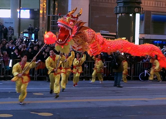 San Francisco's popular Lunar New Year parade is Saturday, February 24. Photo: Courtesy YouTube