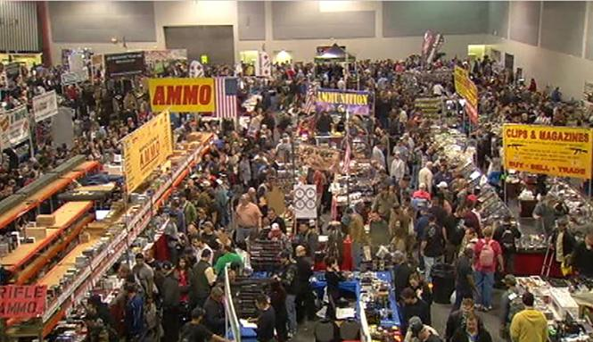 A Crossroads of the West gun show at the Cow Palace in January 2013 drew record crowds and was one of the first gun shows in California after the mass shooting at Sandy Hook Elementary School in Connecticut that killed 20 students and six educators. Photo: Courtesy NBC11