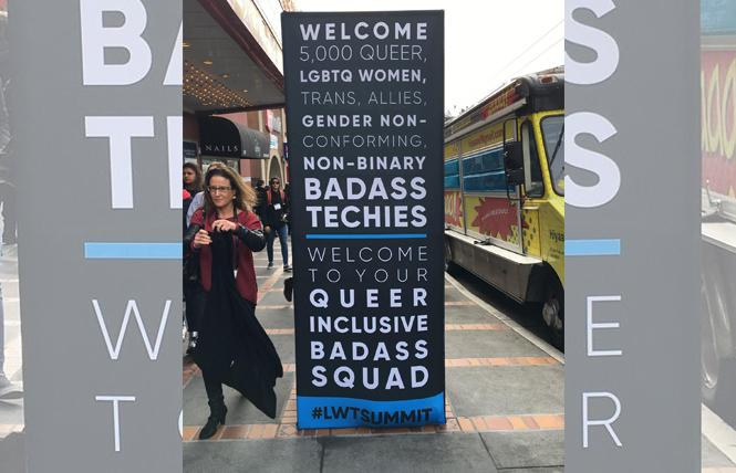 Lesbians Who Tech welcomed thousands of queer women and their allies to its fifth annual conference in the Castro last week. Photo: Sari Staver