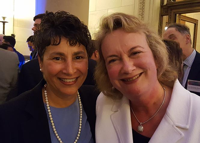 Lesbian San Francisco Superior Court Judges Teresa Caffese, left, and Angela Bradstreet attended the BALIF gala last week