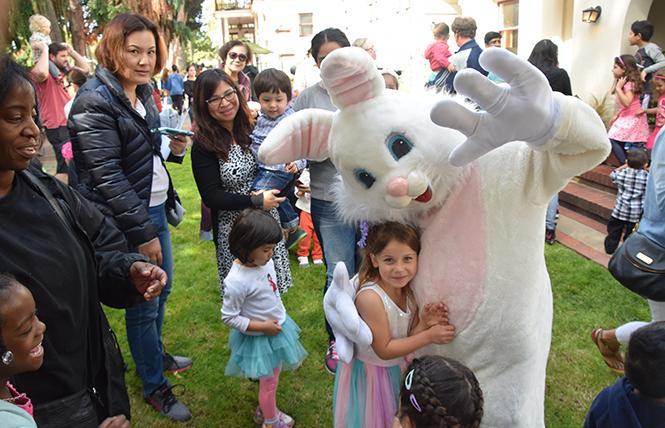 "The Easter bunny will be on hand at ""Egg Hunt at the Casa"" in San Leandro March 31. Photo: Courtesy SLIA."
