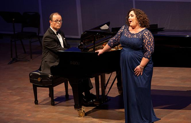 Soprano Toni Marie Palmertree and pianist Mark Morash perform at a Schwabacher Recital. Photo: Matthew Washburn/San Francisco Opera