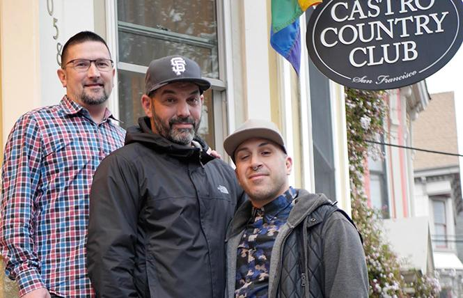Castro Country Club manager Brandon Stanton, left, joined Executive Director Billy Lemon, and last year's Miss Castro Country Club Michael Marchiselli, in publicizing this year's event.