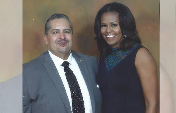 Oakland City Councilman Abel Guillén met former first lady Michelle Obama when she was in the city last week. Photo: Courtesy Abel Guillén