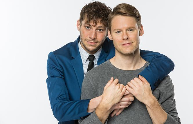 Benjamin Ismail (Louis) and Randy Harrison (Prior), part of Angels in America at Berkeley Rep. Photo: Cheshire Isaacs/Berkeley Repertory Theatre