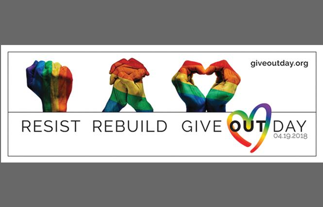The LGBTQ-focused national Give OUT Day is April 19.