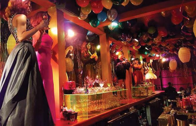 AsiaSF was decked out in balloons for its 2017 New Year's Eve party. Photo: Courtesy AsiaSF