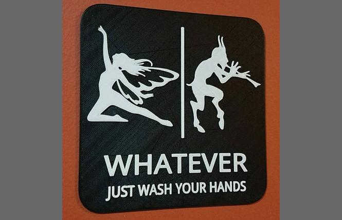 "A ""Whatever"" bathroom sign. Photo: LEDsAreAwesome/Etsy"