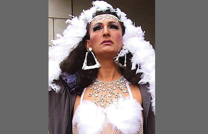 San Francisco drag queen Garza will compete for a Carnaval royalty title Saturday. Photo: Never Navarro