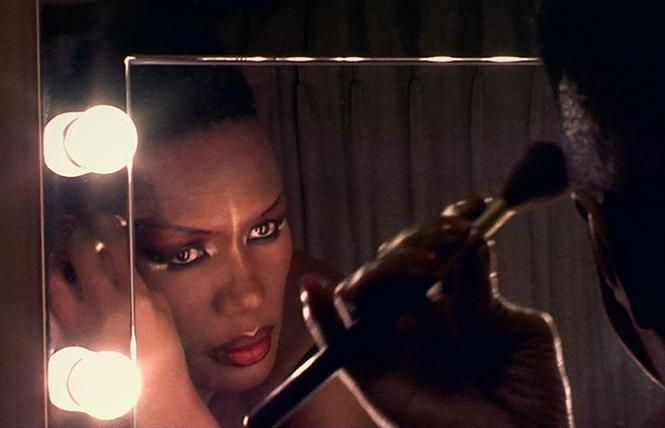 """A scene from """"Grace Jones: Bloodlight and Bami."""" Photo: Courtesy Kino Lorber"""