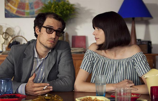 "Louis Garrel and Stacy Martin in director Michel Hazanavicius' ""Godard Mon Amour."" Photo: Cohen Media Group"