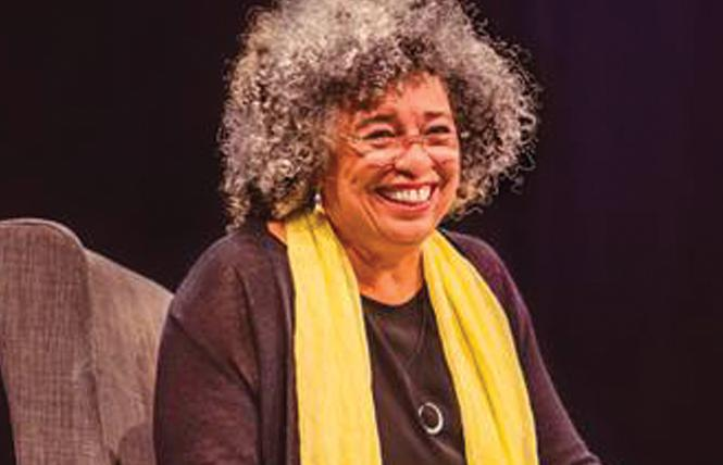 Angela Davis spoke earlier this month in San Francisco. Photo: Alex Fiore