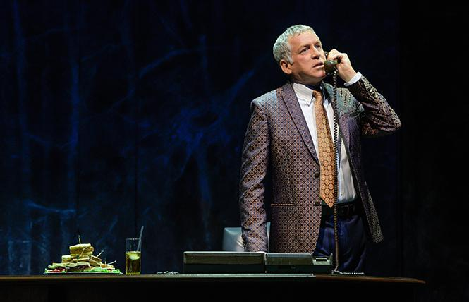 """Stephen Spinella (Roy Cohn) in Berkeley Repertory Theatre's production of """"Angels in America, Part One: Millennium Approaches."""" Photo: Kevin Berne/Berkeley Repertory Theatre"""
