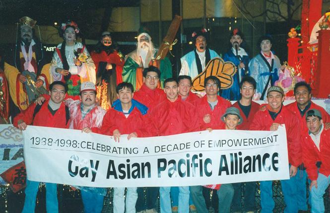 Gay Asian Pacific Alliance members participated in the 1998 San Francisco Chinese New Year's Parade. Photo: Courtesy GAPA