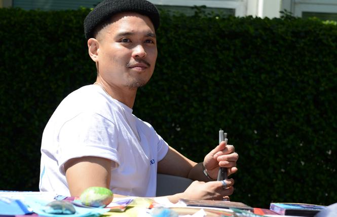 San Francisco State University student Jose Francisco took part in a San Francisco AIDS Foundation campus event. Photo: Courtesy Jose Francisco